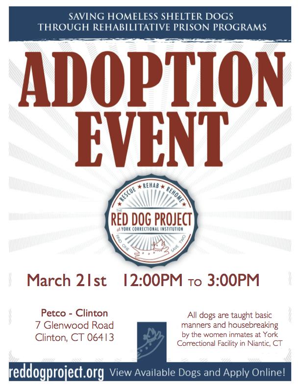 Red Dog Adoption Event – Clinton Petco