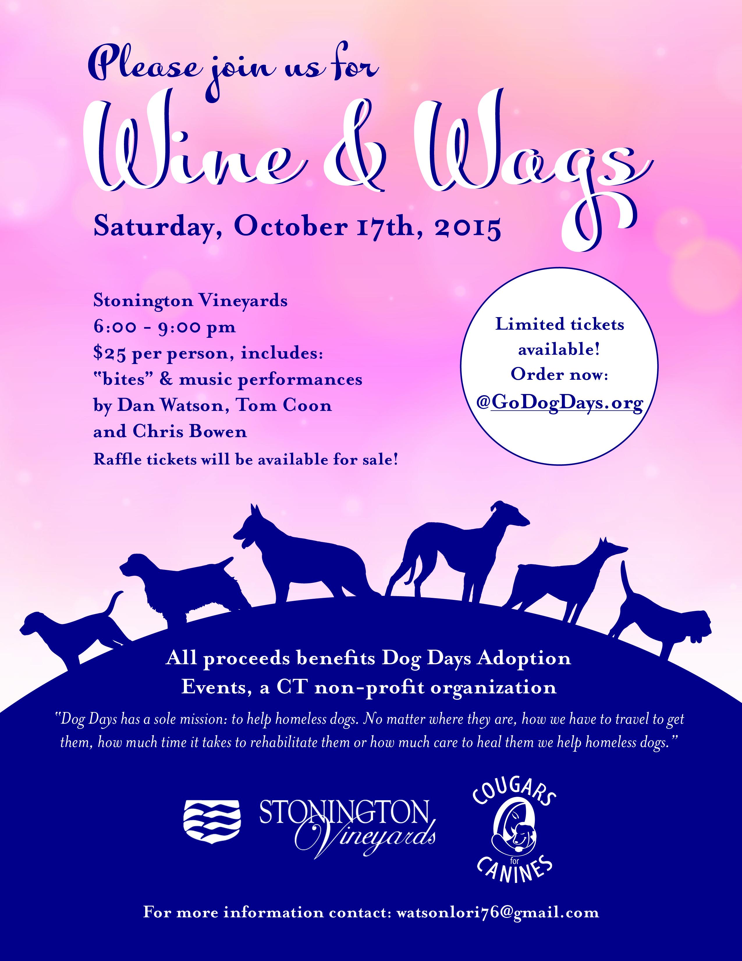 Dog Days Fundraiser: Wine & Wags At Stonington Vineyards